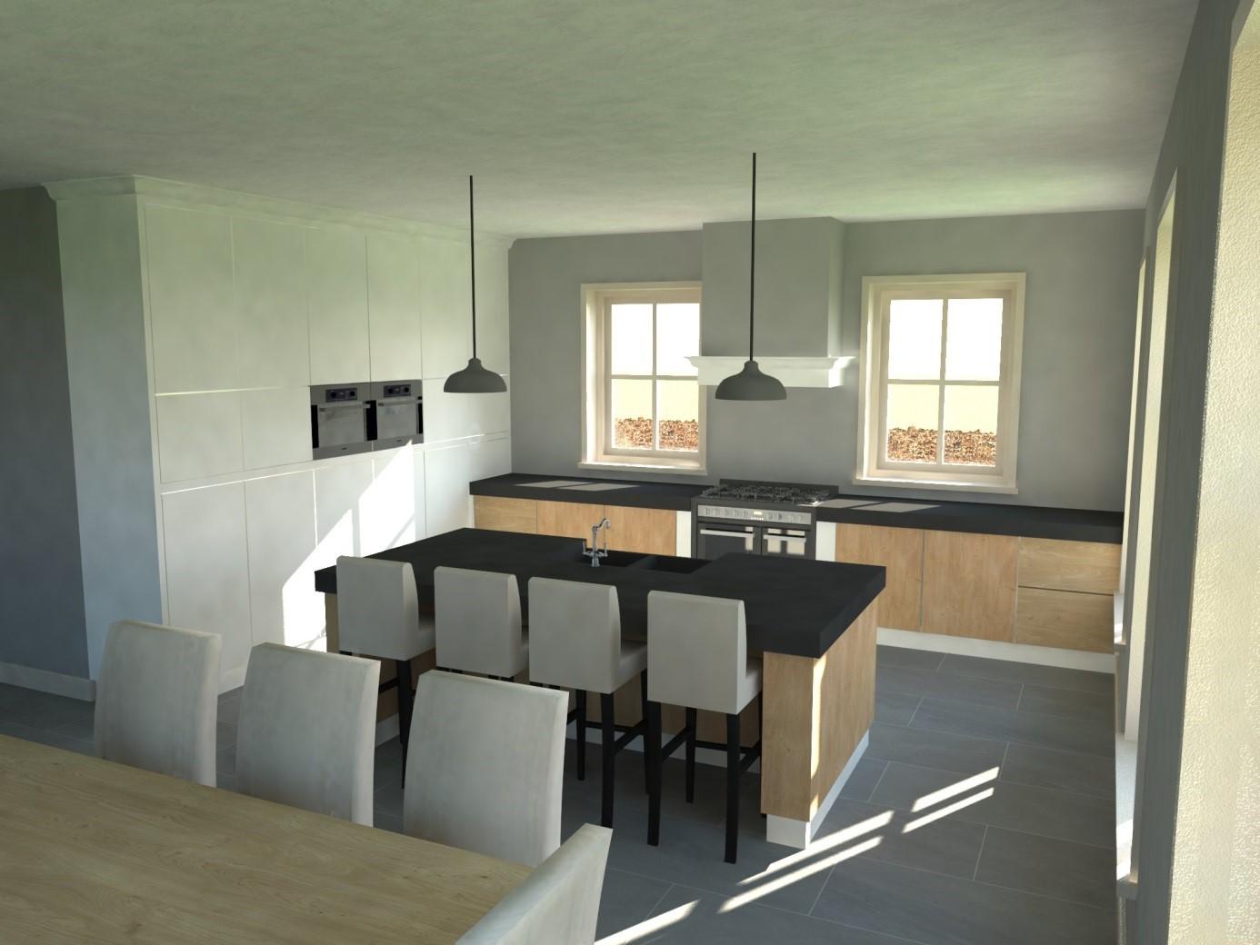 Sfeerimpressie landelijke woning van ooijen bouwadvies for Keuken in 3d tekenen